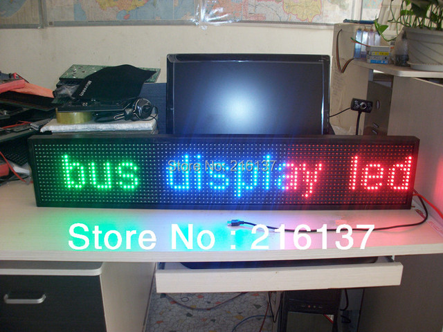 Free Shipping LED Sign Direct USB Programmable Message Display with 16*96 Pixels
