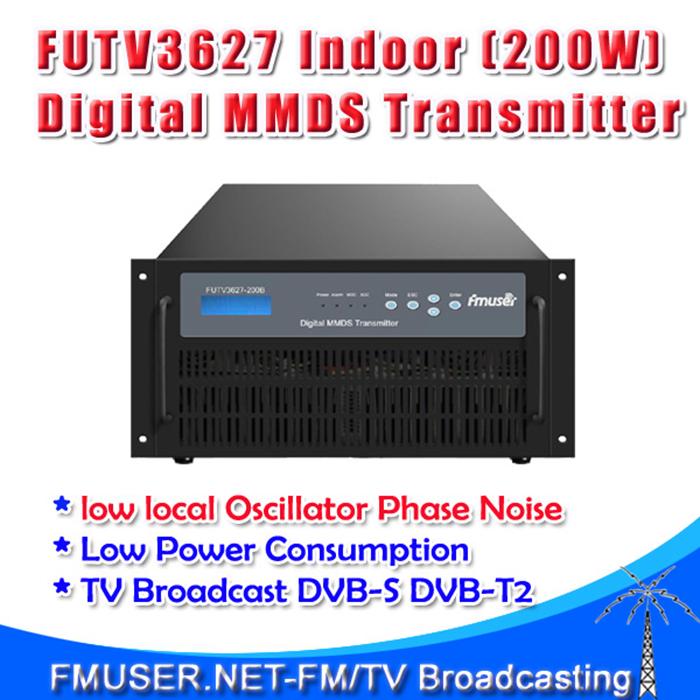 Freeshipping FMUSER FUTV3627 Indoor(200W)transmitter digital TV broadcast MMDS 2.5G 2.7G Broadband dvb-s dvb-t2 amplifier(China (Mainland))