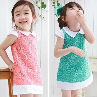 Girl's Fashtion Princess TUTU Flower Dress Children's Clothing Wholesale 5pcs/lot Free shipping