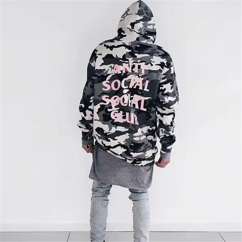 Anti Social Social Club Hoodie Men Brand Sweatshirts and Hoodies Hip hop Fleece Cotton Tracksuit Winter Warm Thick Pullover Man
