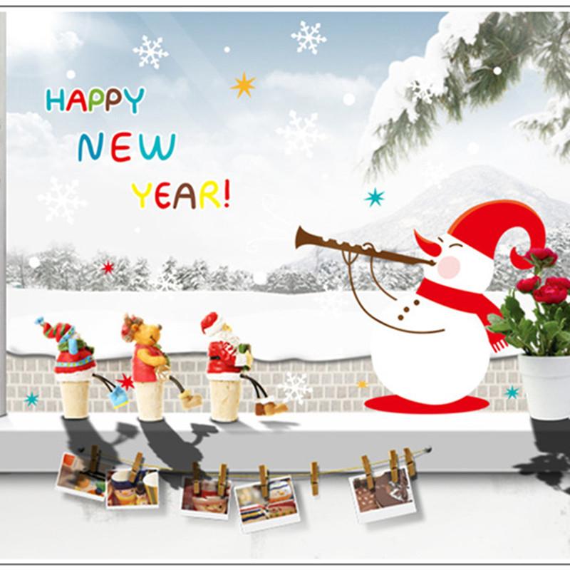 2016 nouvel an bonhomme de neige flocon de neige de no l for Decoration maison nouvel an