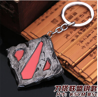 Dota 2 Logo Pendant Vintage Keychain dota2 key chain figure toy jewelry accessories gift keyring Keychains(China (Mainland))