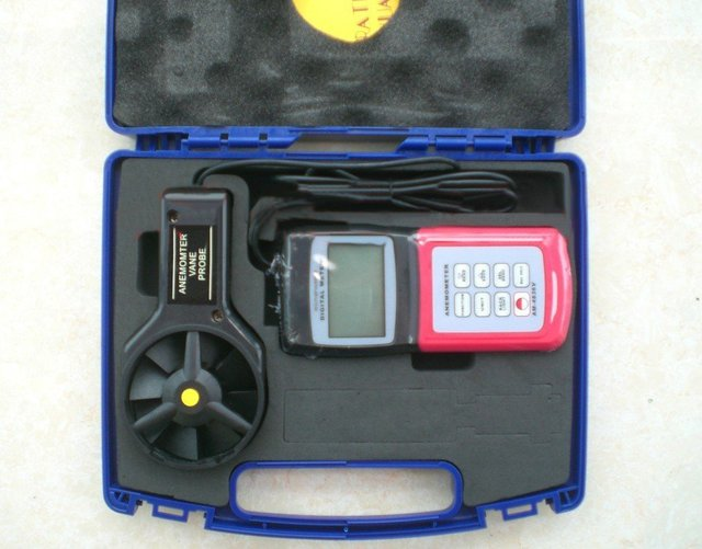 Electrical Equipment AM4836V Digital Anemometer Air Flow Wind Speed Meter,DHL/FEDEX Free&Fast shipping
