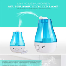 2016 New ArriveTabletop 3L Water Bottle Mini Health Ultrasonic Humidifier Air Purifier with LED Lamp Air Rreshener Support(China (Mainland))