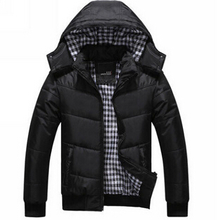Men brand hooded winter jacket 2015 hot removable cap men cotton clothing thicken coats/outerwear XXXL - New Fashion -2015 store