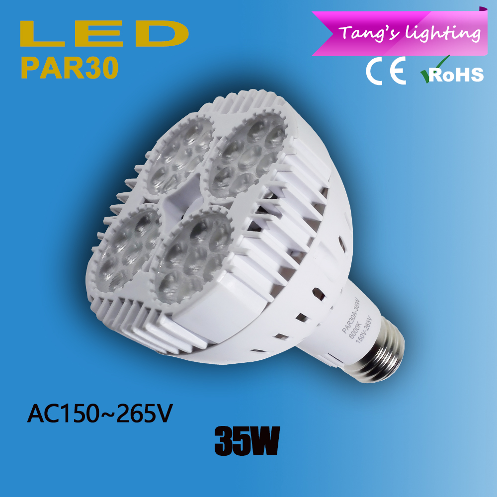 hight power par30 e27 led spot light 24pcs 3535smd high lumens led bulb lamp ac150 265v 35w. Black Bedroom Furniture Sets. Home Design Ideas