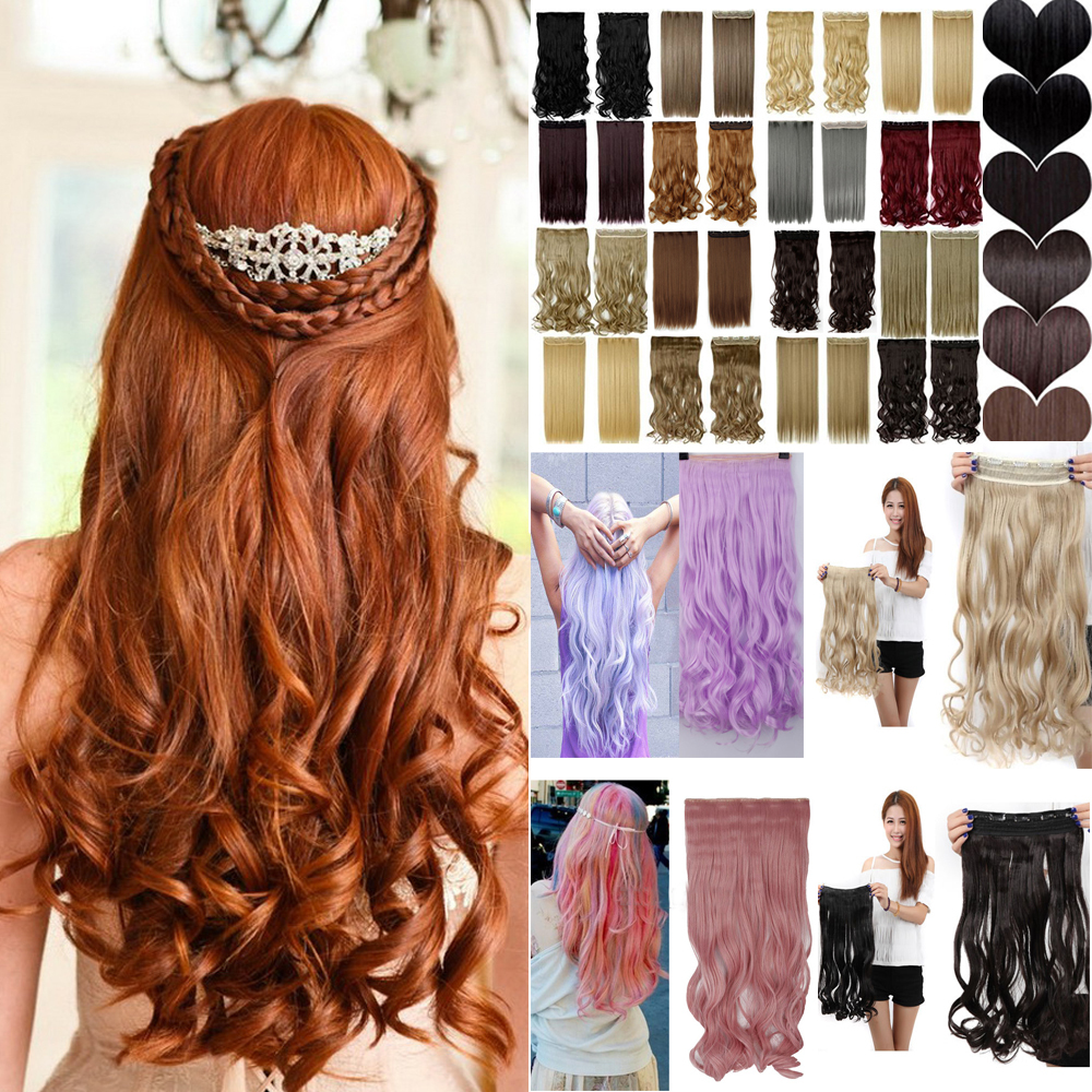 """1 Pcs 24""""/60cm Synthetic Hair Extension 60cm Hairpiece Long Curly Women Brown Blonde Clip Hair Clip In Hair Extension(China (Mainland))"""