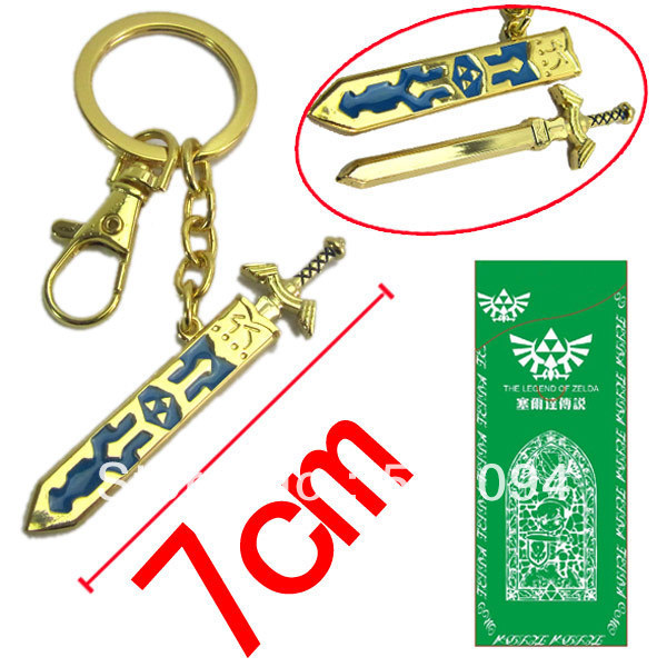 Free Shipping Anime Game Toy The Legend of Zelda Cosplay Sword Matel Keychain Pendant 10pcs/lot ANPD392<br><br>Aliexpress