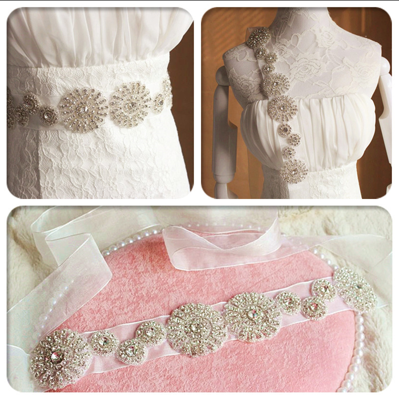 Wedding Dress Accessories Belt : Buy hot luxury bridal wedding dress accessories belt