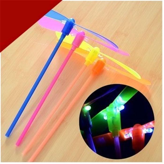 2015 New Glow Lights Toys LED Flash bamboo dragonfly flying rotor led toy Free Shipping wholesale(China (Mainland))
