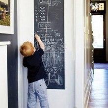 BornIsKing 45x200cm Chalk Board Blackboard Stickers Vinyl Draw Decor Mural Decals Art Chalkboard Wall Sticker for Kids Rooms(China (Mainland))