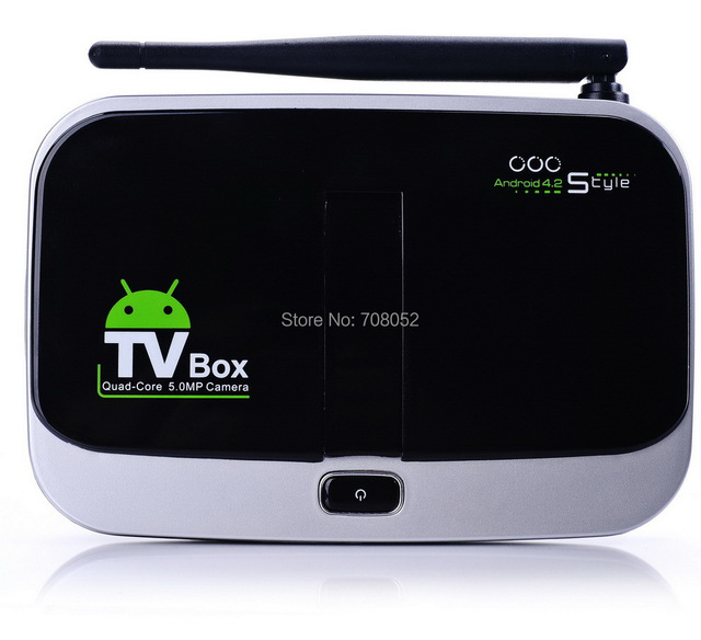 Quad Core Andriod TV Box CS918S 1G+8G Android 4.2.2 OTT TV BOX  5.0m Camera Smart TV Box Dropshipping