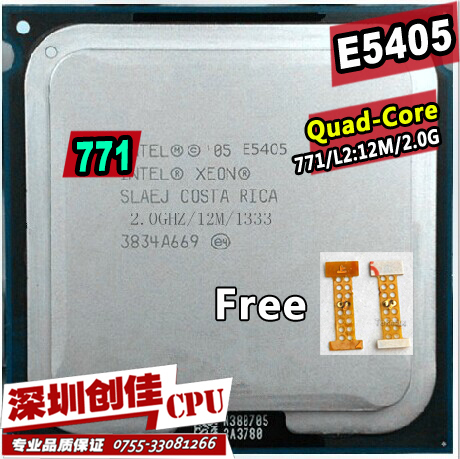 Original Intel Xeon E5405 CPU processor /2.0GHz /LGA771/12MB L2 Cache/Quad Core/ server CPU Free Shipping scrattered pieces(China (Mainland))