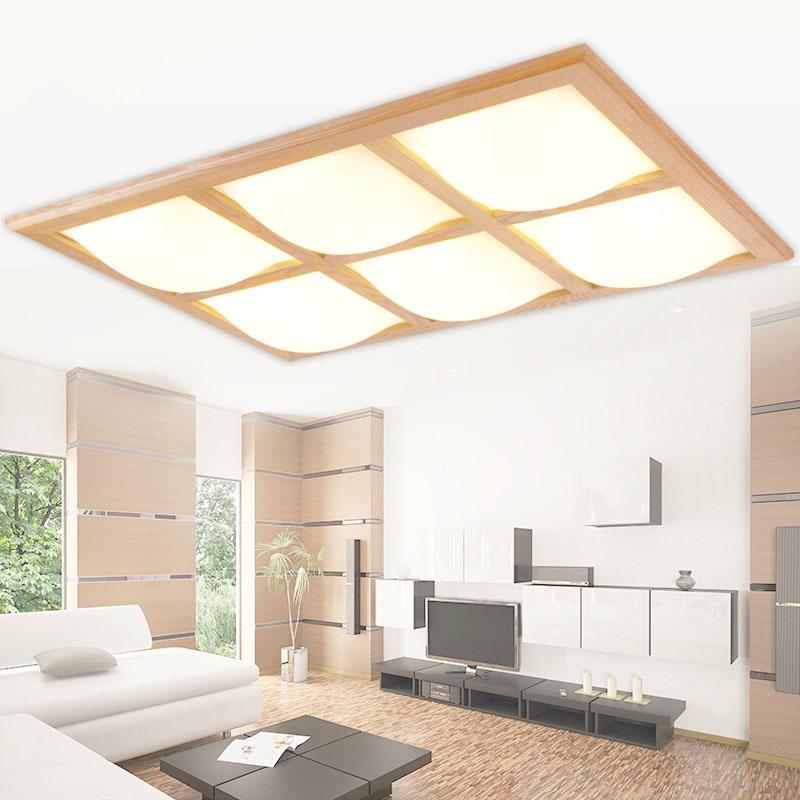 surface mounted modern oak led ceiling lights for living