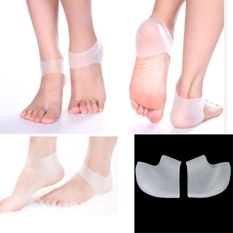 Hot 1Pair Silicone Moisturizing Gel Heel Socks Cracked Foot Skin Care Protector High Quality New Style