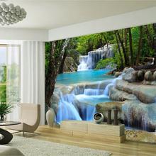 lake forest landscape 3D wallpaper living room bedroom wallpaper mural