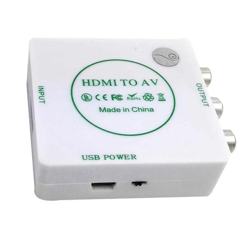 For HDMI av converter connector audio video barley box hd tv interface color conversion line(China (Mainland))