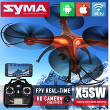 NEWEST SYMA X5SW FPV RC Drone 2.4G 6 Axis Gyro HD Drones RC quadcopter with 5 Battery +5in1 Cable