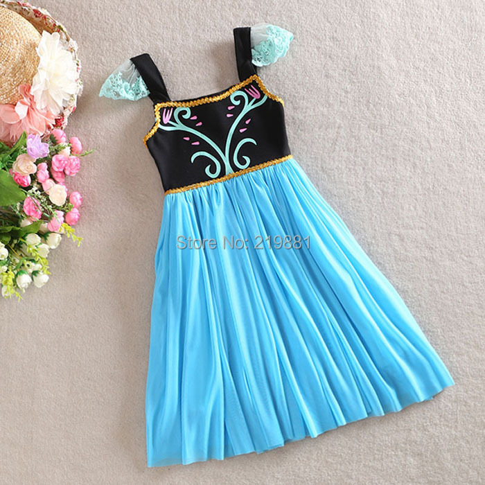 Здесь можно купить  Hot ! 2014 Girls summer  frozen dresses , frozen anna dress , frozen tutu dress , 5pcs/lot  YGQ02  Детские товары