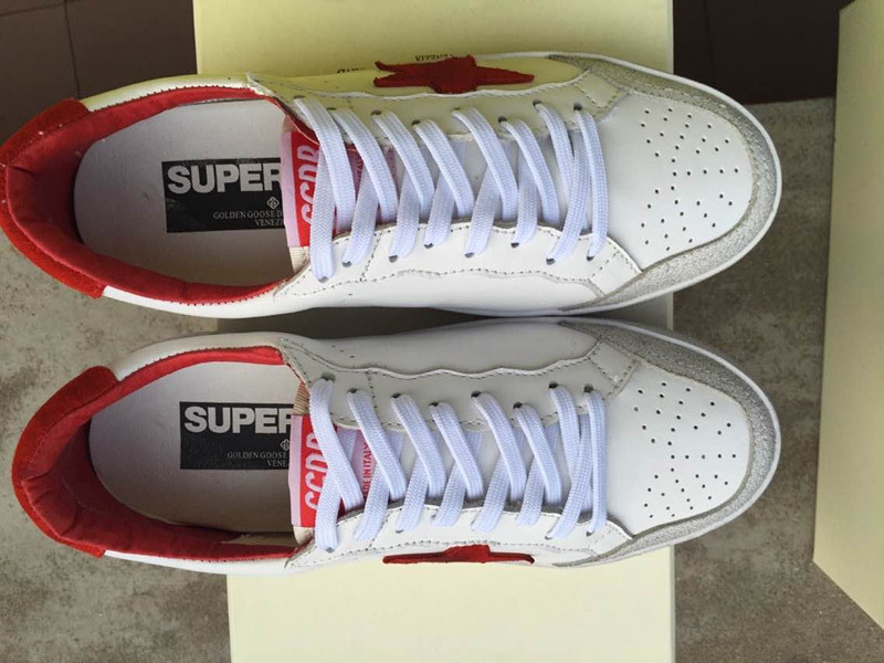 Fashion Brand Golden Goose Superstar White Red Men Sneakers Casual Lace Up Genuine Leather GGDB Women Shoes Scarpe Uomo