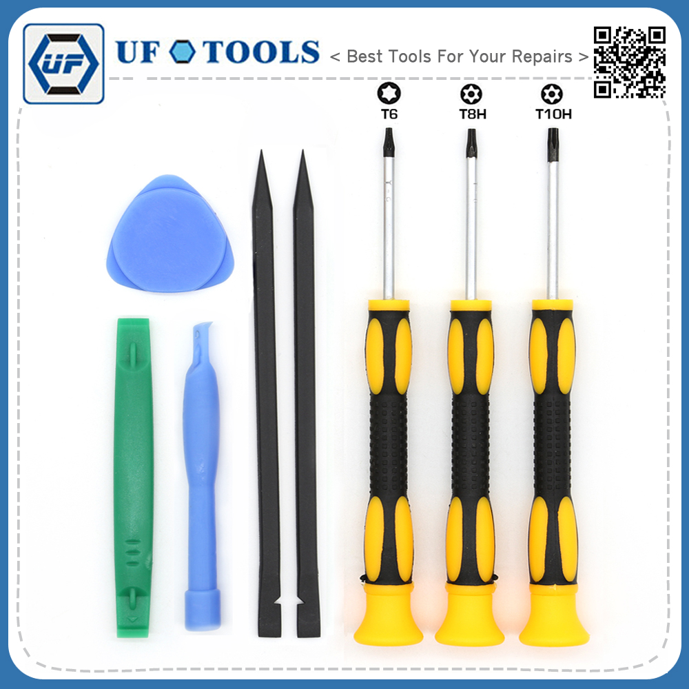 professional t6 t8h t10h torx screwdriver set pry spudger tool for xbox one xbox 360 controller. Black Bedroom Furniture Sets. Home Design Ideas