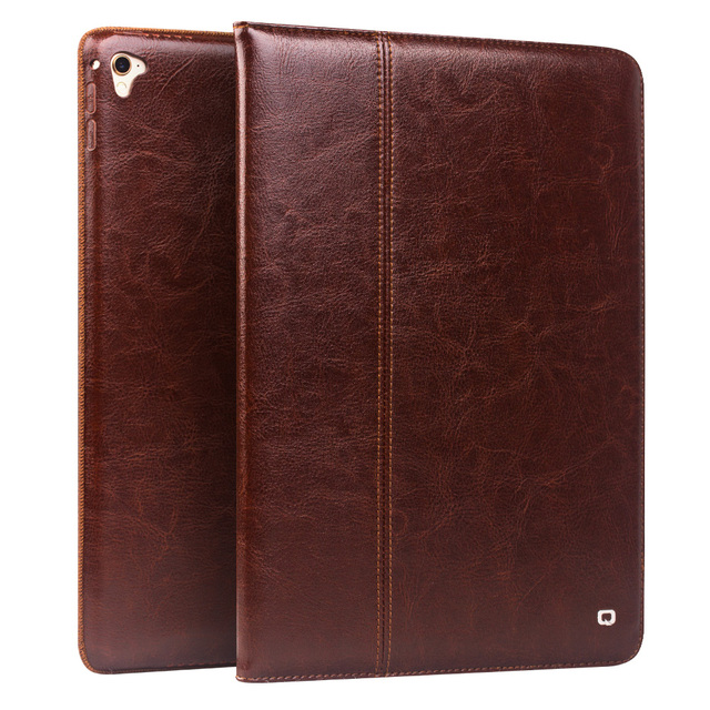 QIALINO Genuine Leather Case for iPad Pro 9.7 Case Flip Stents Dormancy Stand CoverCard Slot case compatible for iPad air2