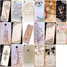 Buy Fashion Rhinestone Hard Plastic Case Diamond Clear Crystal PC phone Cover LG K7 K8 K10 L70 L90 Cell Phone Case for $1.90 in AliExpress store