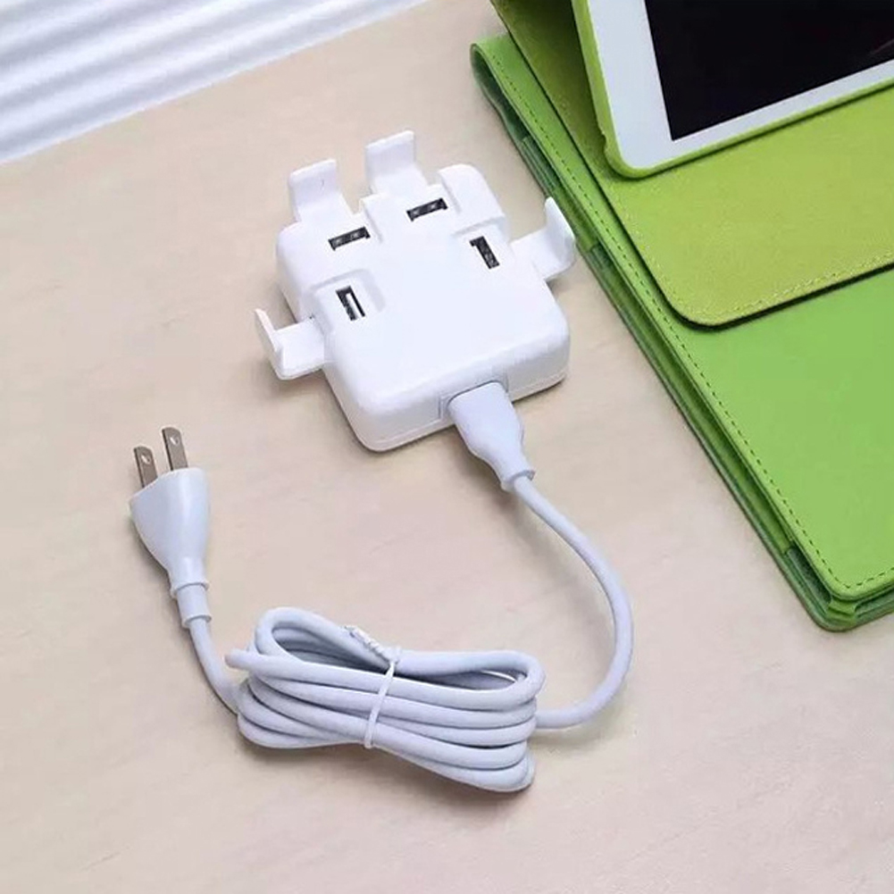 Office Travel Charger Power Adapter 4 Ports USB Socket UK/US/EU Wall Plug - eChange 3C GROUP CO., LTD store