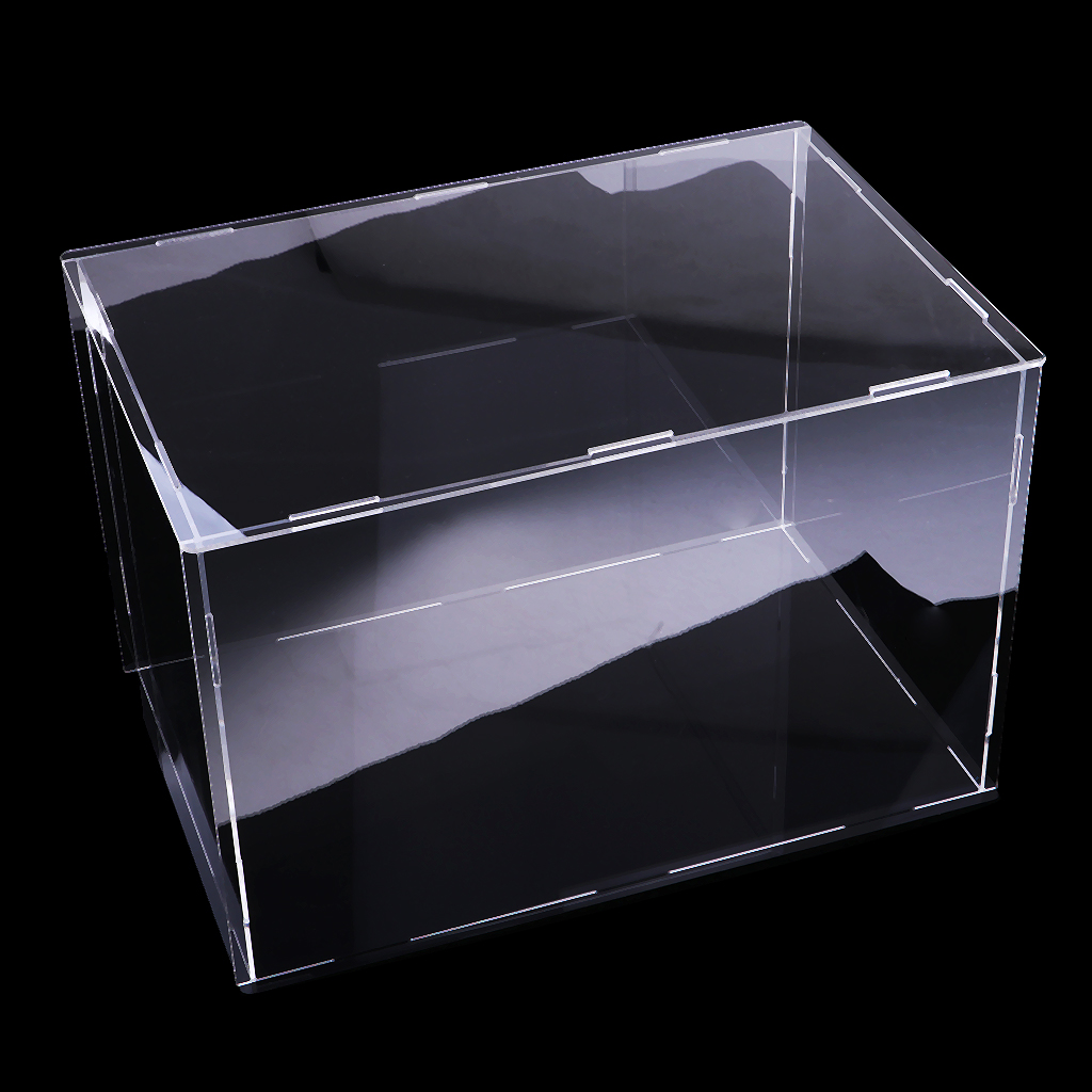 Transparent Acrylic Display Case Tray Dustproof Storage Show Box 32x25x25cm