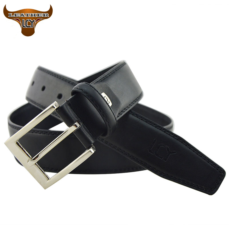 [LCY] Newest Designer Belts Men High Quality Faux Leather Belt for Men Metal Pin Buckle Black cinturones hombre Best Gift 350203(China (Mainland))