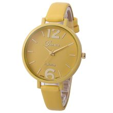 Women Watches Fashion Quartz Watch Faux Leather Wrist Watch Women's Dress Hours Geneva Simple Watch Relogio Feminino Gift Girls(China)