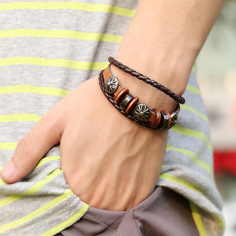 New Style Punk Unisex Women Men Wristband Metal Studded Leather Bracelet HOT(China (Mainland))