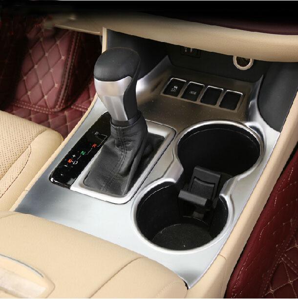 silver interior gear trim cover for toyota highlander kluger accessories 2015 in interior. Black Bedroom Furniture Sets. Home Design Ideas