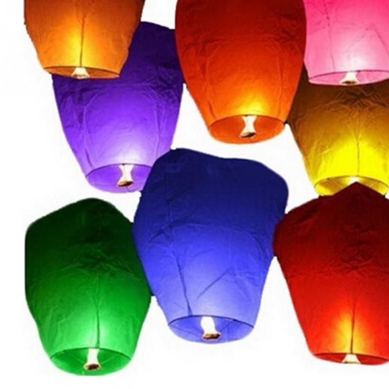 5Pcs/Set Mini Sky Lanterns Chinese Paper Sky Candle Fire Balloons For Festive Events(China (Mainland))