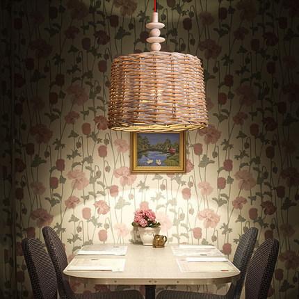Loft Style rotin lanterne décoration Droplight LED Vintage pendentif luminaires pour salle à manger lampe suspendue éclairage intérieur(China (Mainland))