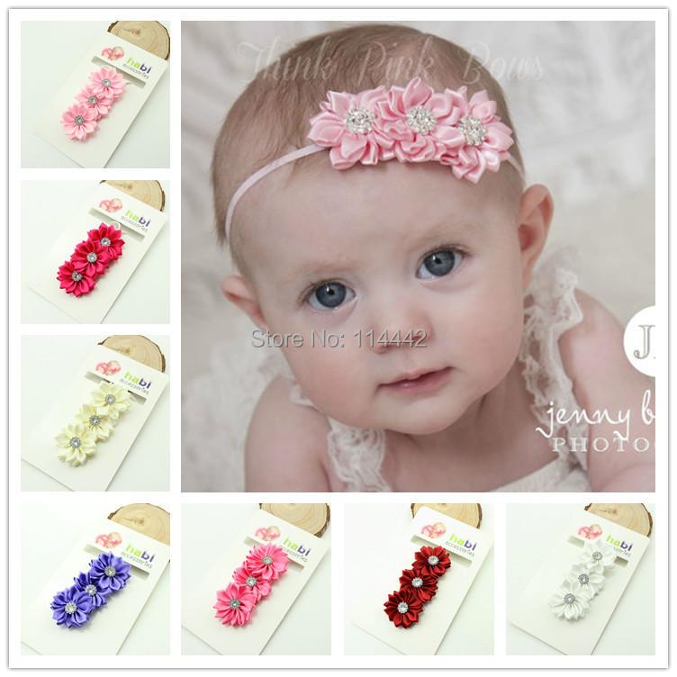 2/ lot Beautiful Satin Ribbon Multilayers Headband Baby Girls flowers headbands kids' hai accessories - Belle Cute Boutique store
