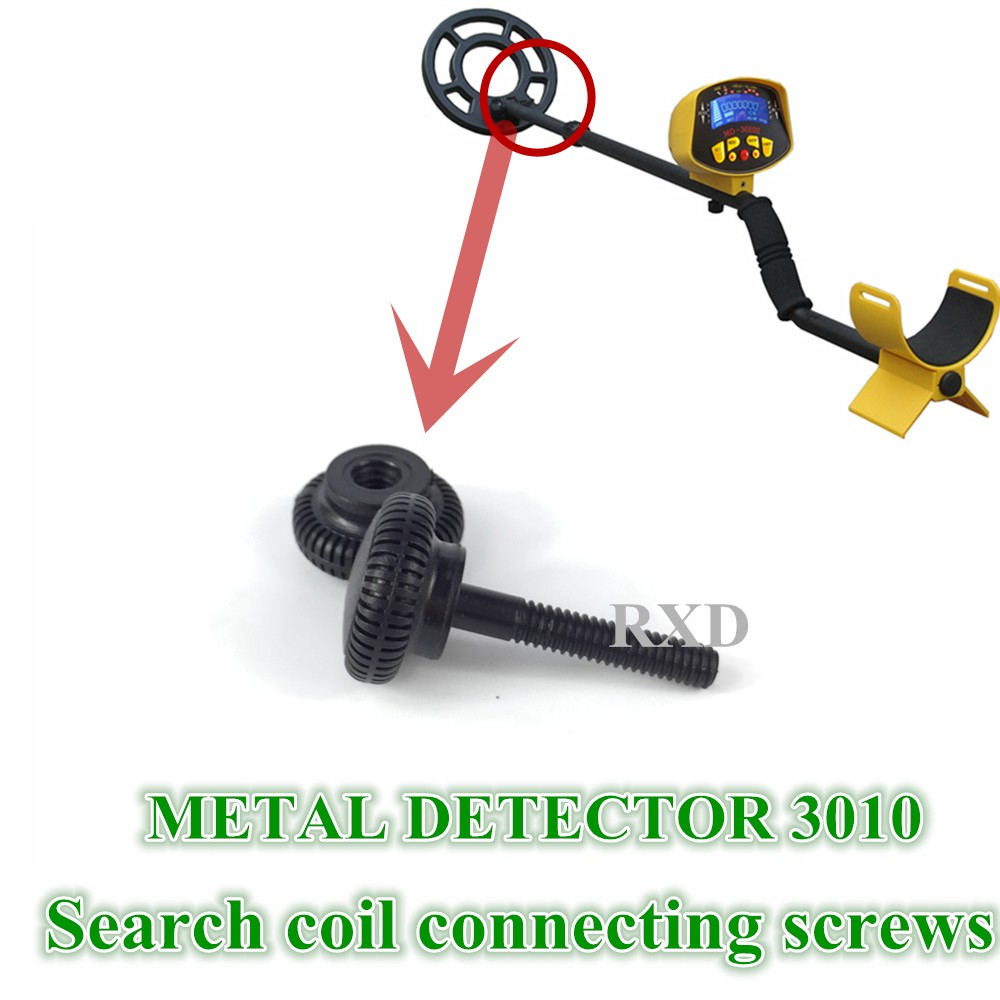 new metal detector md3010 Search coil Screw connection md-3010 Plastic coil screws Fitting free shipping