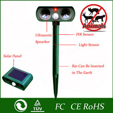 2016 High Quality Green Garden Cat Dog Pest Repeller Solar Power Ultra Sonic Scarer Frighten Animal Repellent Outdoor Use(China (Mainland))