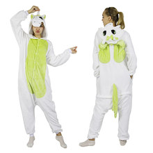 KIGUCOS Adulto Onepiece Animais Pijama Panda Dos Desenhos Animados Sleepwear Homens e Mulheres Presente Engraçado Do Natal Unicórnio Onesies Pijama de Inverno(China)