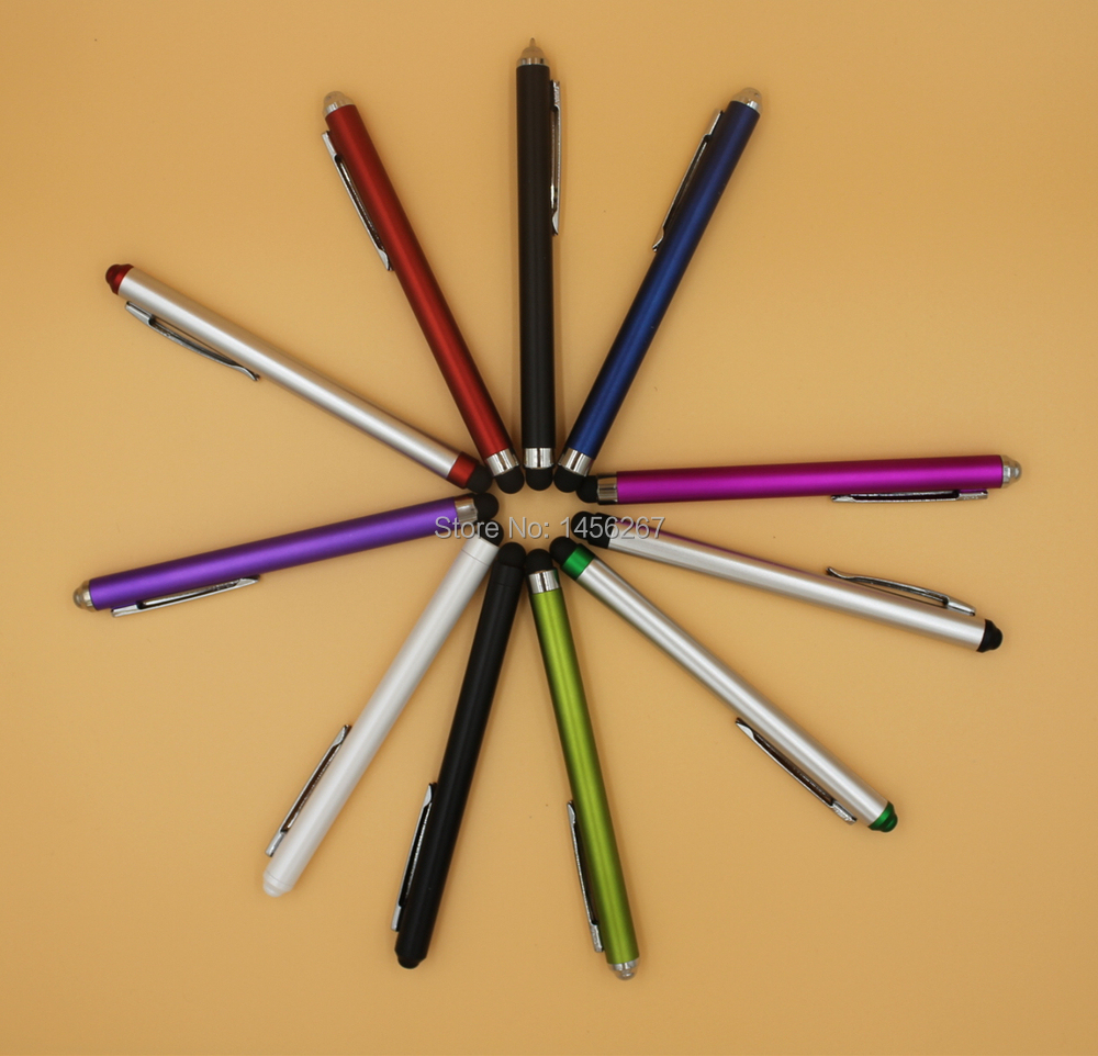 Special touch pen and Stylus Ball Pen, multi-function Automatically ball pen + stylus.(China (Mainland))