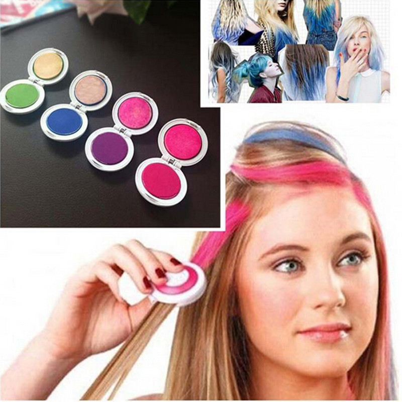 Free Shipping 4PCS/Set Hair Chalk Powder Dye Soft Pastels Salon Hair Color Crayons Fashion Christmas DIY Temporary Wash-Out
