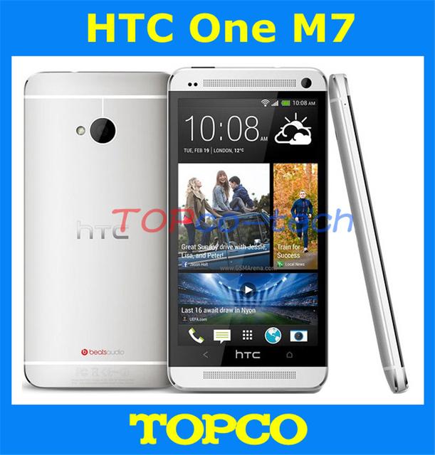 """Оригинальный HTC ONE открынный Android телефон GSM 3 г и 4 г Quad ядро м7 32 ГБ мобильный телефон 4.7 """" 4MP WIFI GPS прямая поставка"""