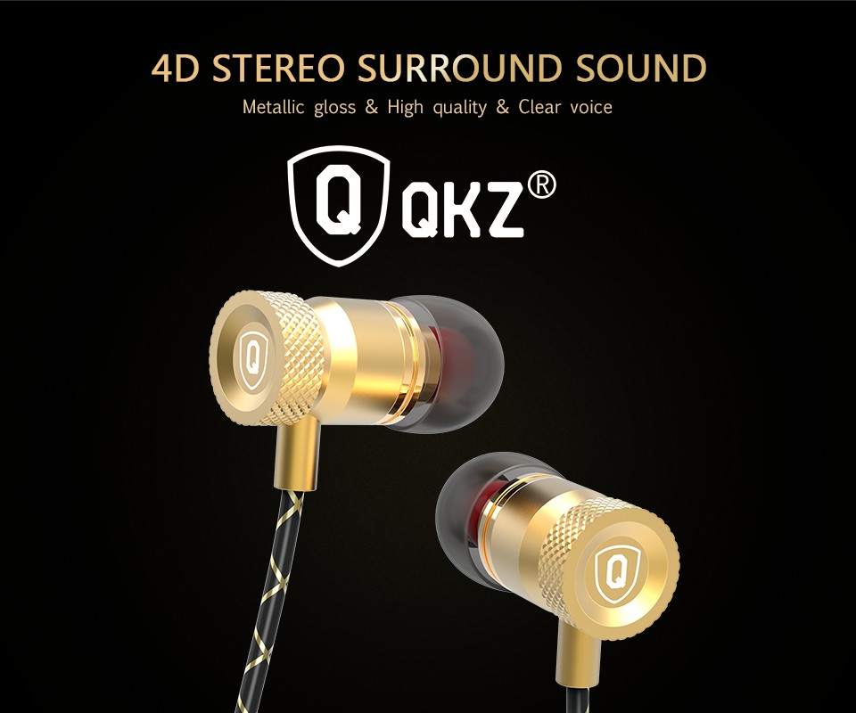 QKZ X5 Earphones Bass Headset Phone Headset Metal auriculares Ear Music DJ Mp3 Earphone Headset HIFI audifonos fone de ouvido