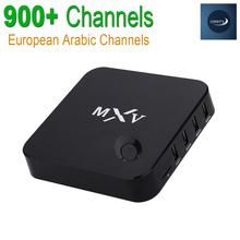 MXV Android IPTV Caja Europa Cielo Árabe IPTV Canales Paquete QHDTV Canales de Medios Jugador DDR3 1G/8G WiFi KODI Bluetooth Apoyo