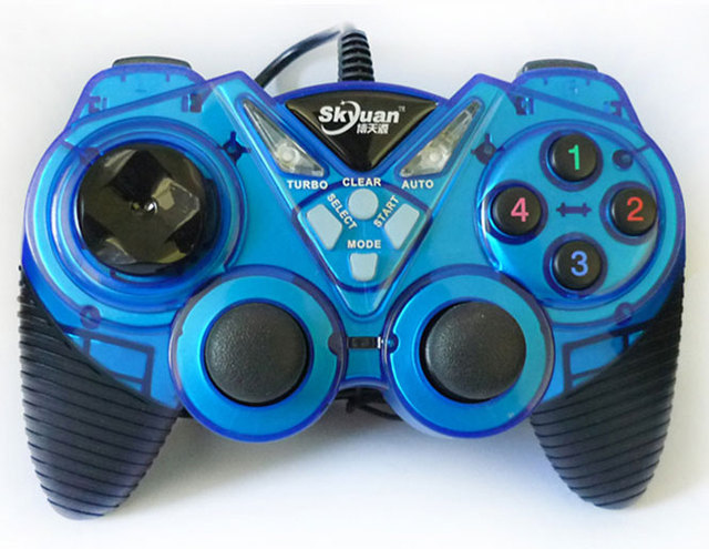 Wired computer game controller with double joysticks and vibration for PC Windows XP WIN7 WIN8 WIN10 gamepad joypad