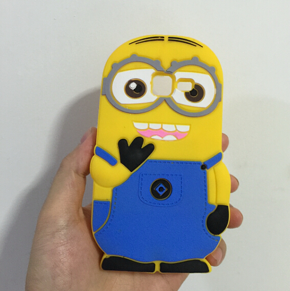 3D Two Eyes Despicable 2 Minions Soft Silicone Back Case Cover Samsung Galaxy Trend i699 S7562i S7566 S7568  -  ALEX ZHOU Store store