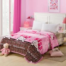 furniture lovely PRINCESS PINK ANIMAL CARTOON CANDY CUTE GIRLS BED BLANKETS LINEN WOOL FLEECE PINK CARTOON ANIMAL fur BLANKET