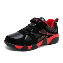 סתיו 2018 סניקרס מקרית ילדי אופנה בנים אנטי חלקלק נוח PU ילדי נעלי Krasovki Zapatillas טניס Masculino(China)