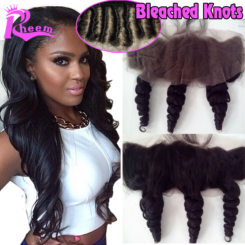 Virgin Peruvian Lace Frontal Closure Bleached Knots,Free Middle 3 Part Ear to Ear Body Wave Lace Frontal Closure With Baby Hair