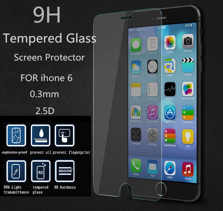 Ultrathin Explosion proof Premium Tempered Glass iphone 6 6G 4.7 inch Anti Shatter Screen Protector Film iphone6 - Jun's Department Stores store